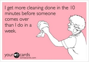 apartment cleaning joke