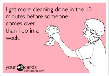 how to clean apartment in a hurry